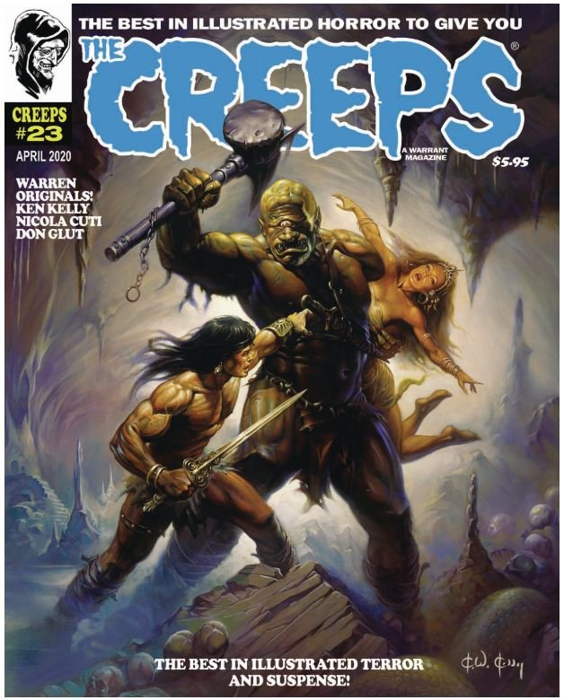 The Creeps #23 contents page