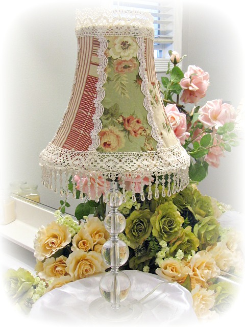 Country roses lamp shade for Victorian decor store