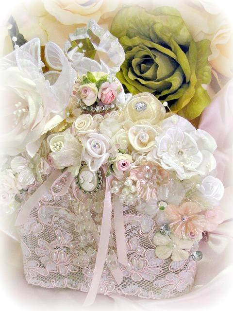 Image 3 of Regency Elegance Pink Beaded Square Potion Bottle