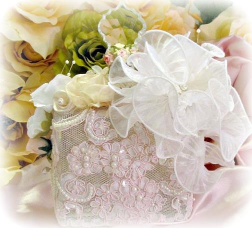 Image 6 of Regency Elegance Pink Beaded Square Potion Bottle