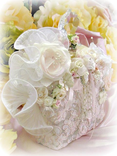 Image 2 of Regency Elegance Pink Beaded Square Potion Bottle