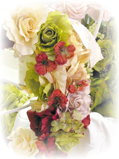 Image 1 of Country Roses Large Door Wreath
