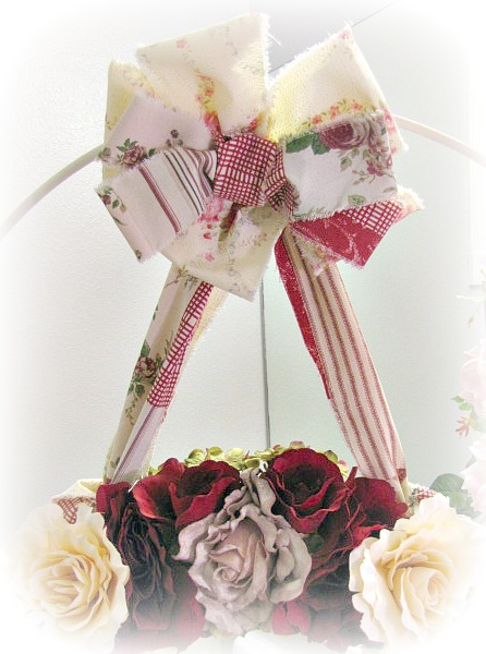 Image 2 of Country Roses Large Door Wreath
