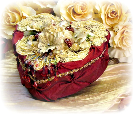 Image 1 of Regency Elegance Heart Box
