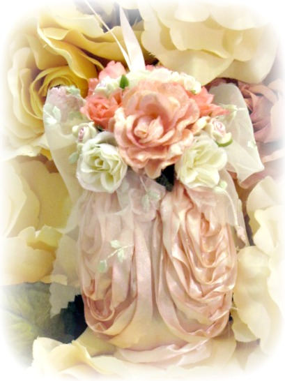 Image 1 of Rose Blush Ornaments set of 4