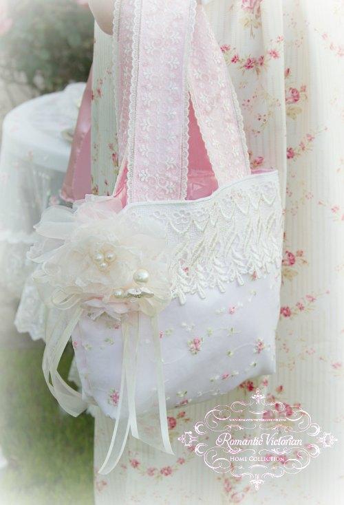 Victorian Ivory Lace Handbag