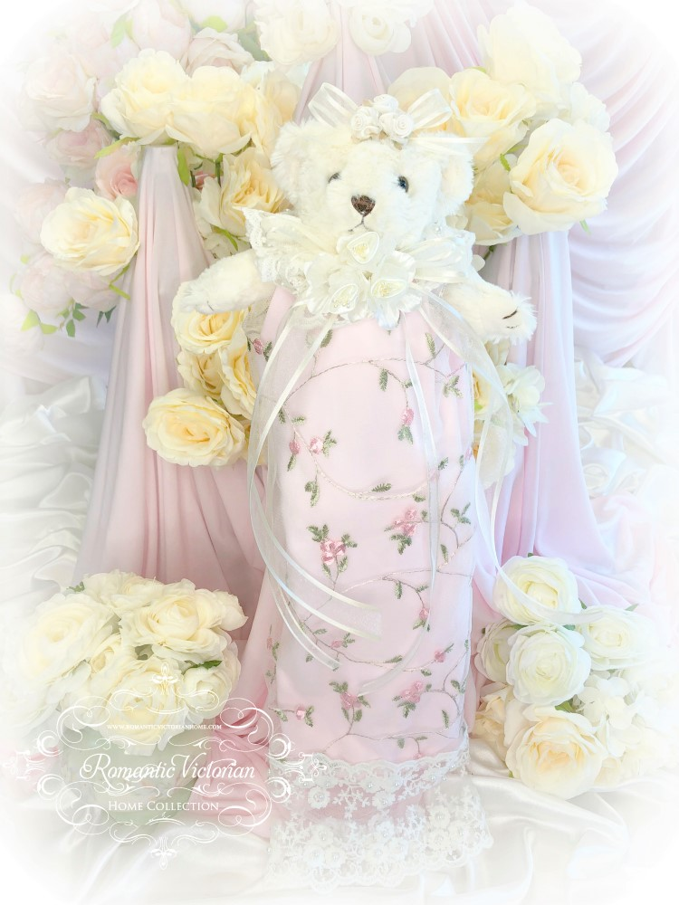 Embroidered Roses Romantic Victorian Teddy Bear