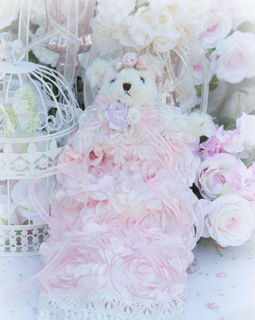 Image 1 of Rose Blush Teddy Bear