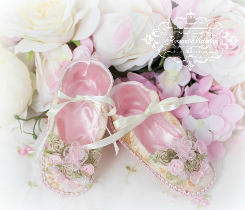 Image 1 of Victorian Roses Baby Shoes