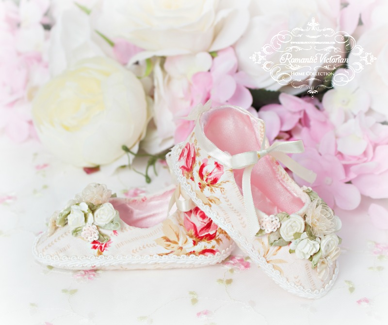 Image 0 of Tea Rose Baby Shoes