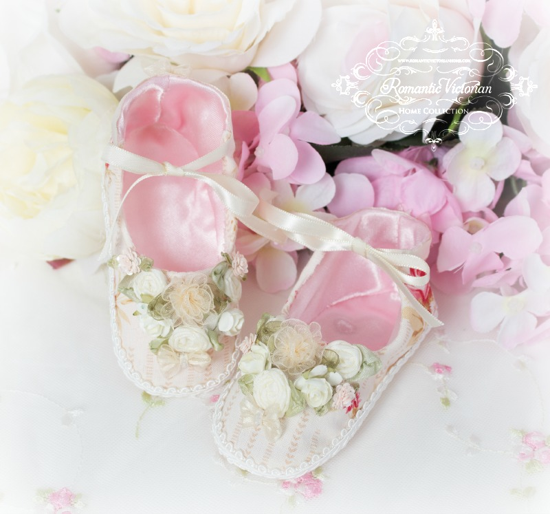 Image 1 of Tea Rose Baby Shoes