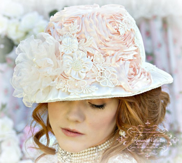 Rose Blush Victorian Hat