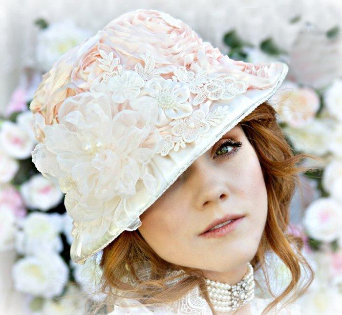 Image 1 of Rose Blush Victorian Hat