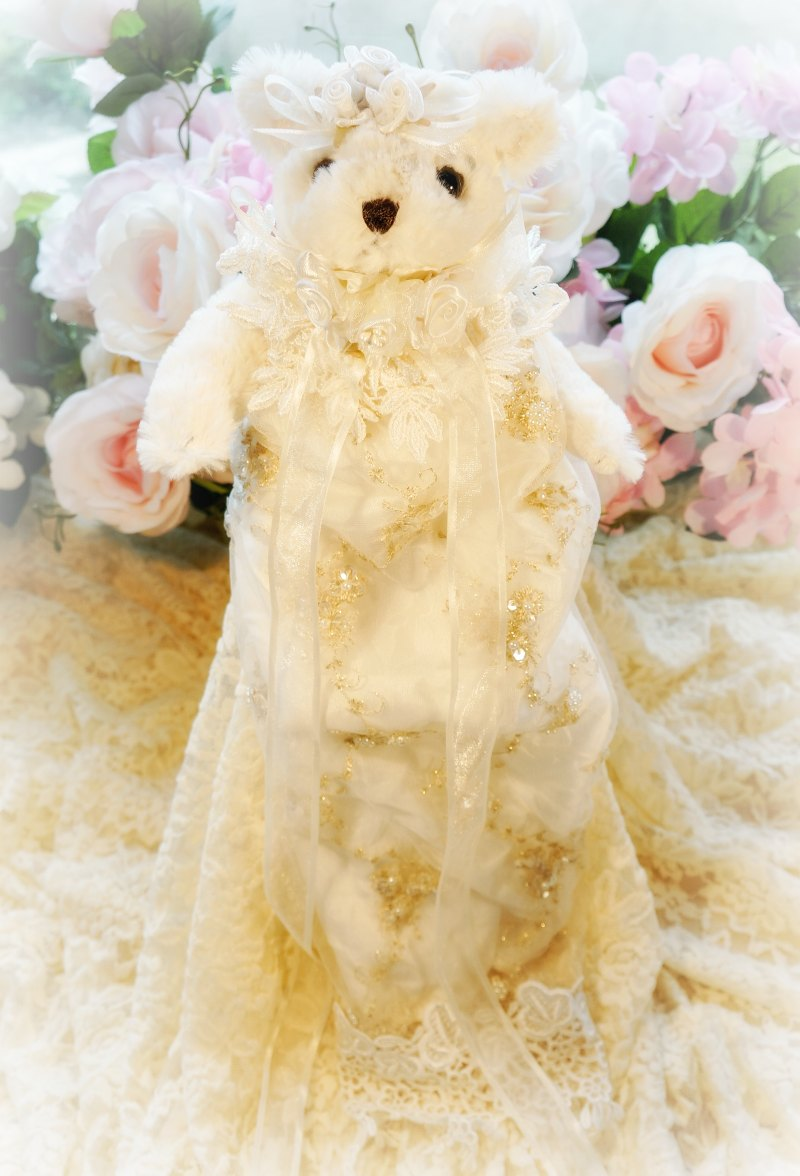 Image 0 of Gilded Opulence Beaded Lace Bear