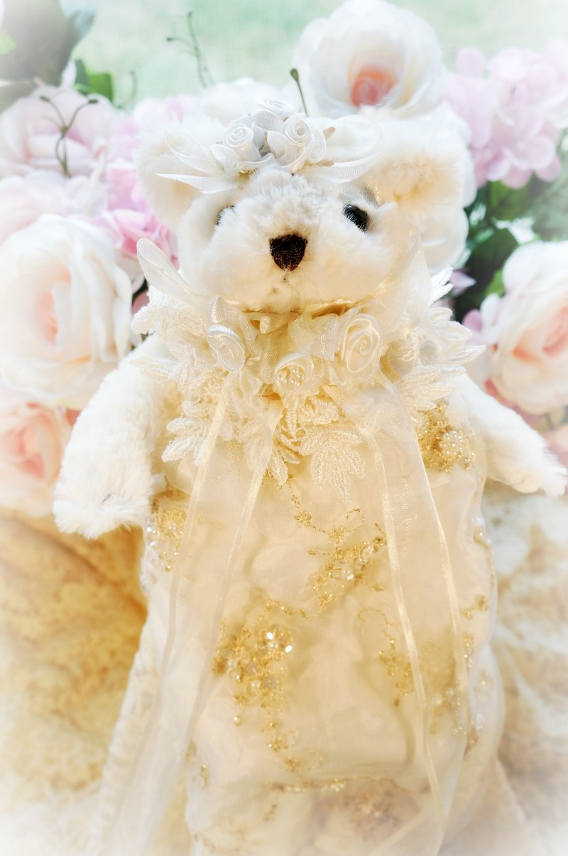 Image 1 of Gilded Opulence Beaded Lace Bear