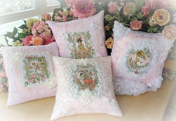 Victorian Era Pillows : Crystal Roses Pillows