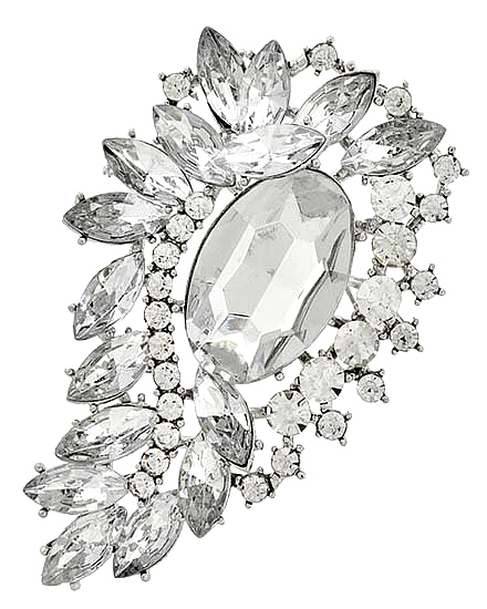 Image 0 of Clear Victorian Rhinestone Brooch