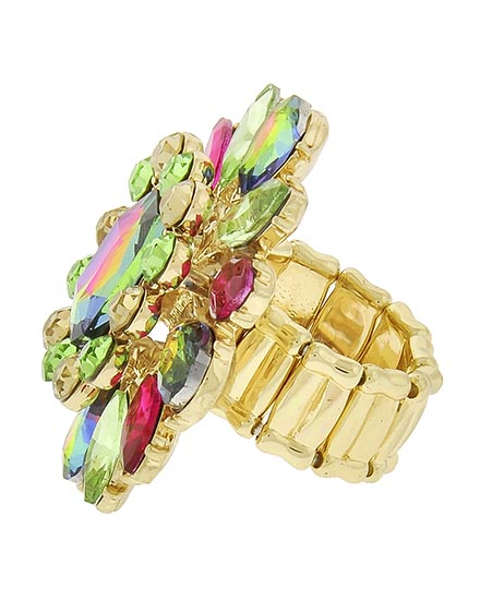 Image 1 of Multi Color Vitrail Stretch Ring