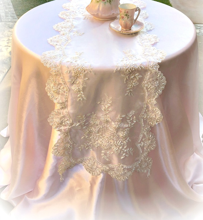 Image 1 of Romantic Victorian Beaded Table Runner