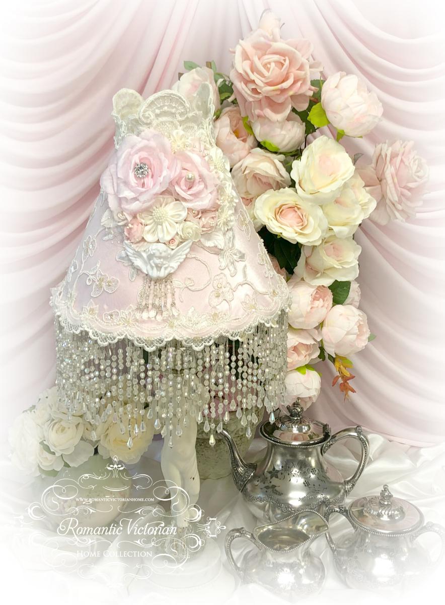 Image 4 of Climbing Roses Cherub Lamp Shade