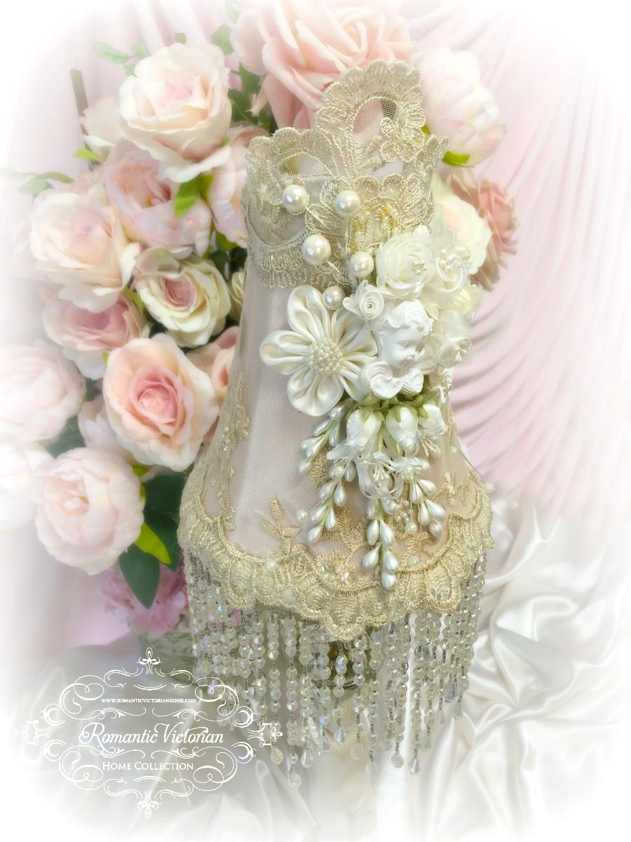 Image 2 of Rose Gold Cherub Lamp Shade