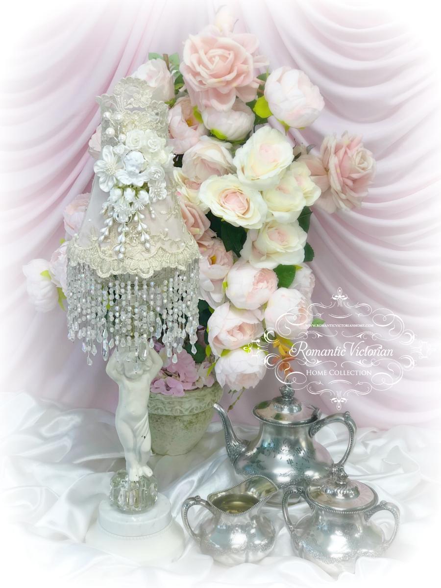 Image 4 of Rose Gold Cherub Lamp Shade