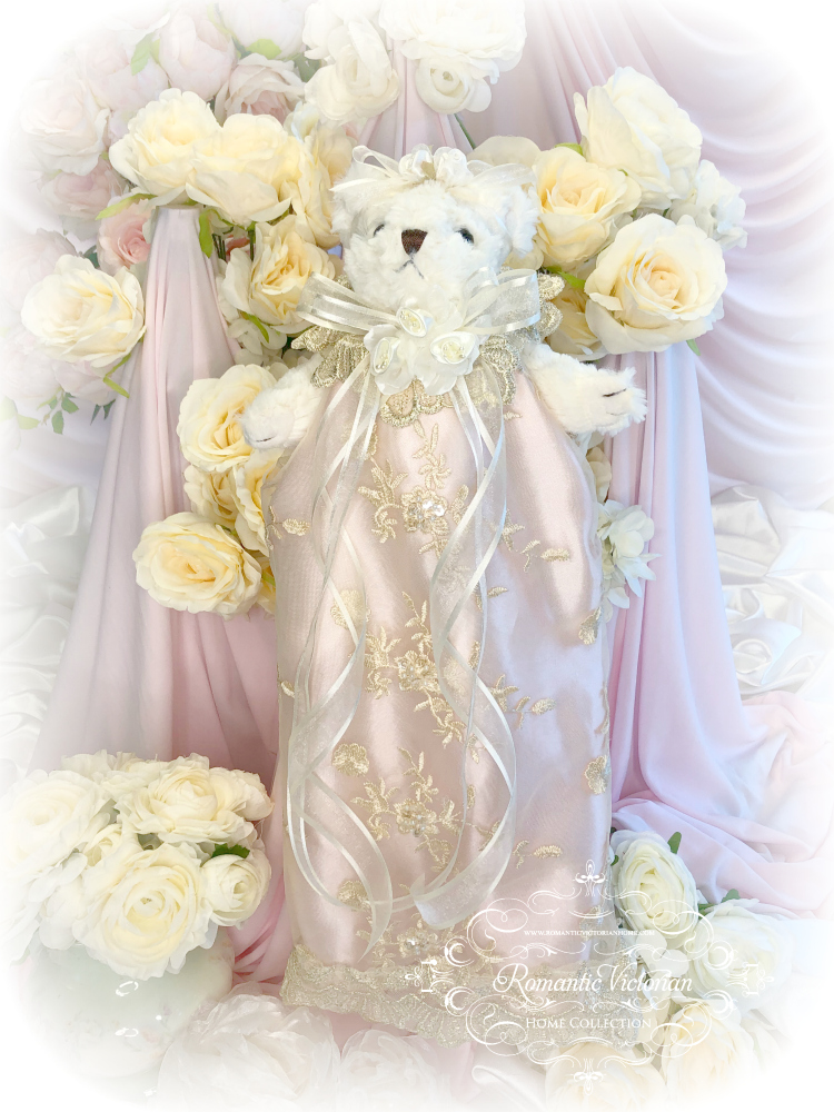 Image 0 of Rose Gold Romantic Victorian Teddy Bear