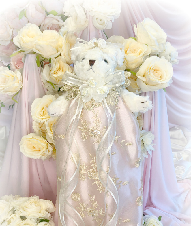 Image 1 of Rose Gold Romantic Victorian Teddy Bear