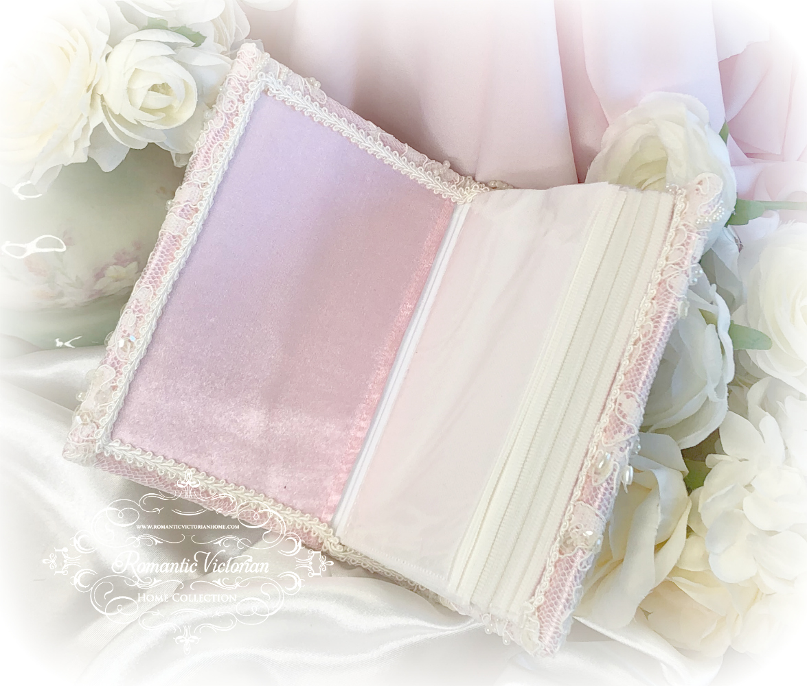 Image 2 of Small Vintage Pink Romantic Victorian Photo Album