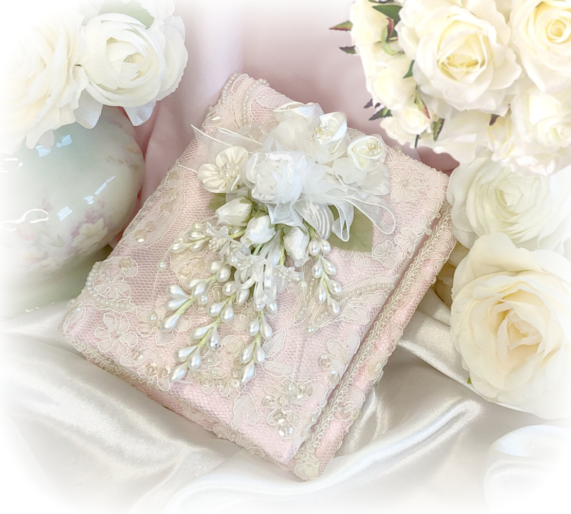 Image 1 of Small Vintage Pink Romantic Victorian Photo Album
