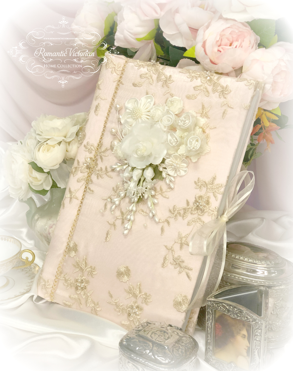 Large Rose Gold Romantic Victorian Photo Album