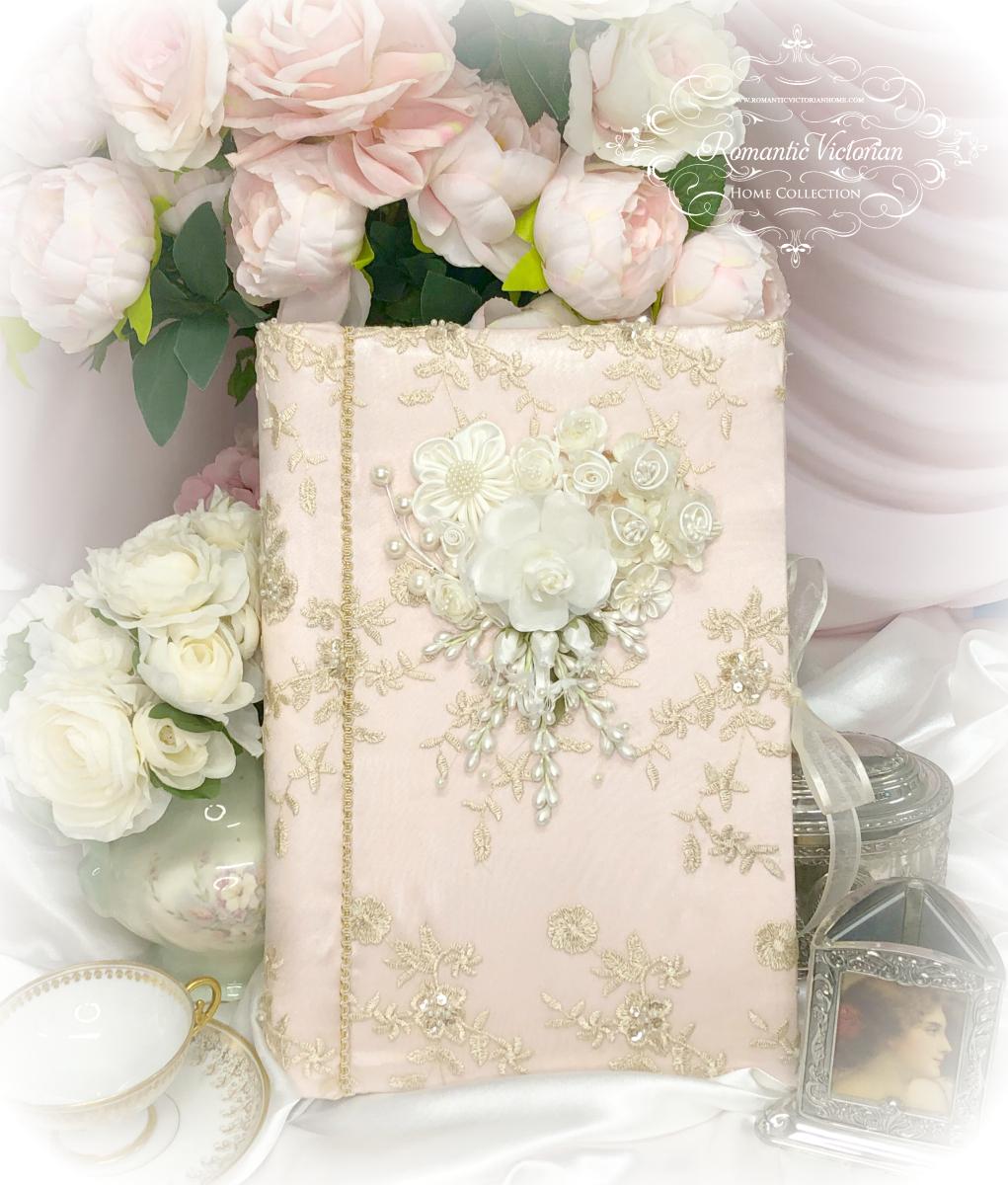 Image 1 of Large Rose Gold Romantic Victorian Photo Album
