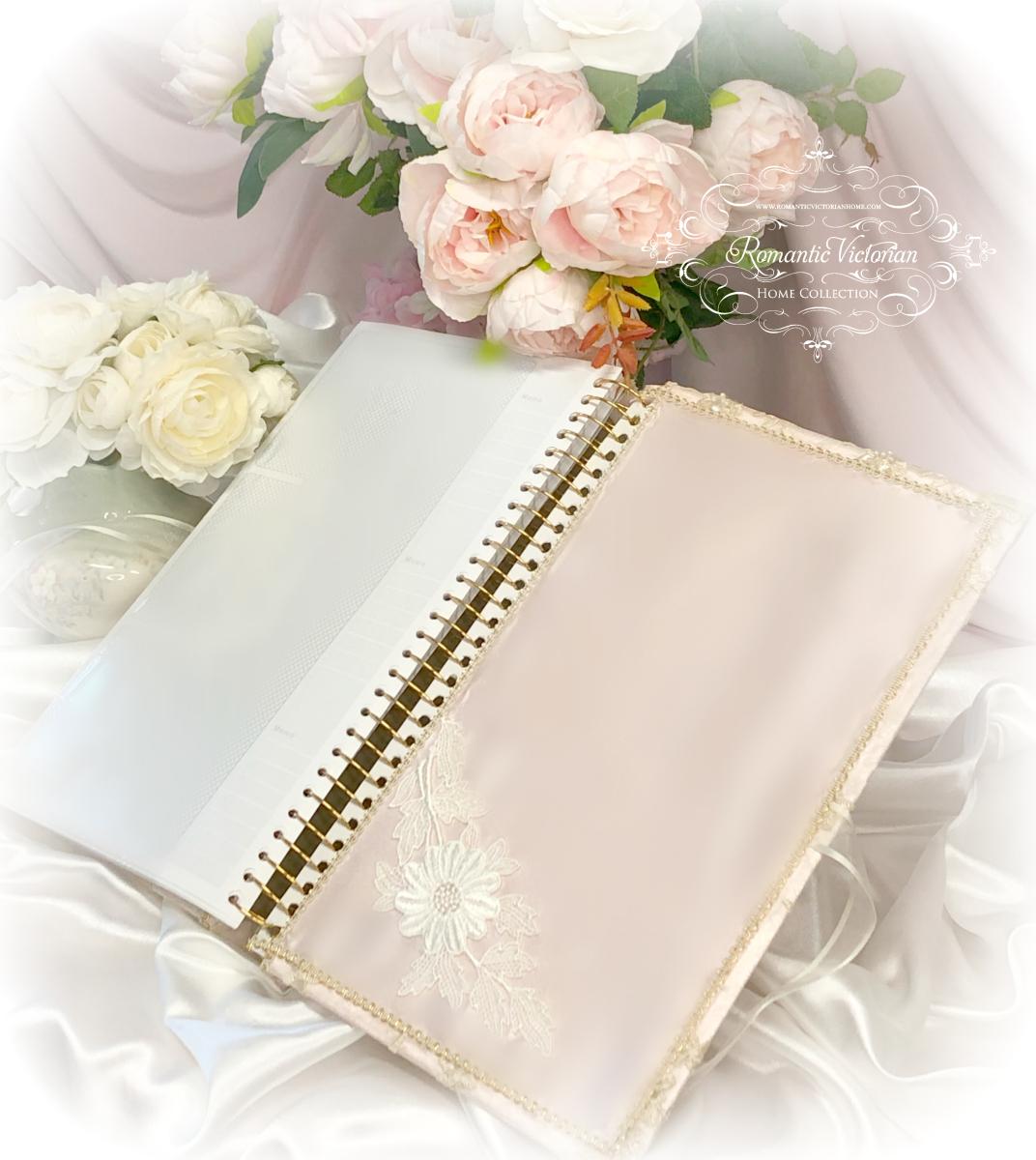 Image 3 of Large Rose Gold Romantic Victorian Photo Album