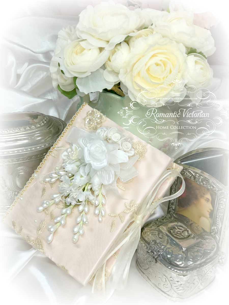 Small Rose Gold Romantic Victorian Photo Album