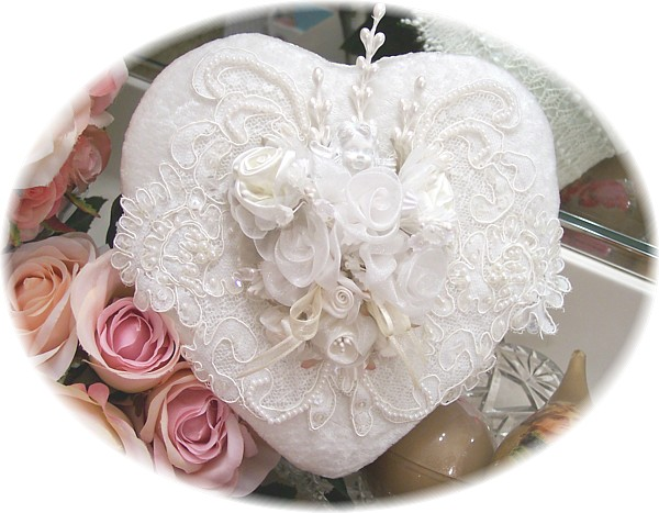 Image 1 of Silk Velvet Heart Box