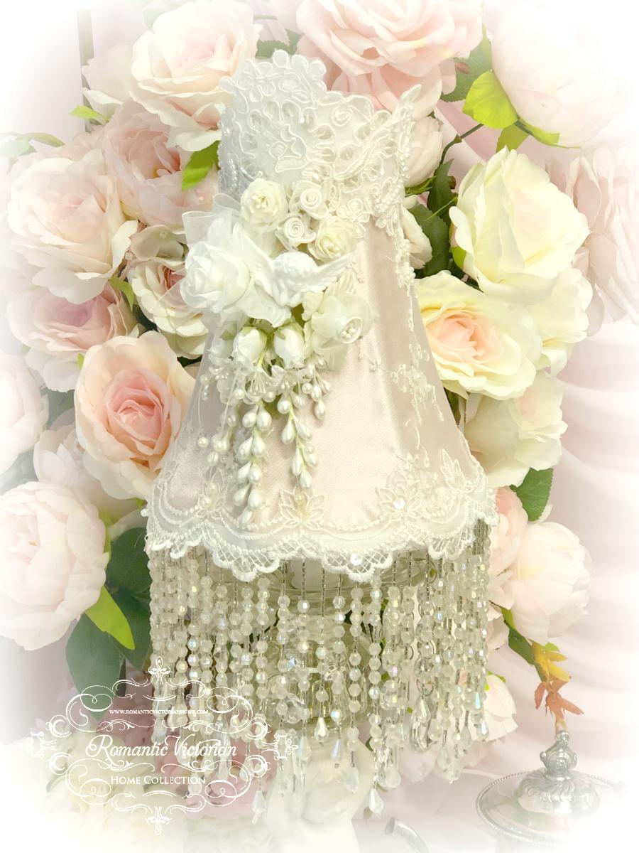 Image 2 of Blush Rose Pink Cherub Lamp Shade