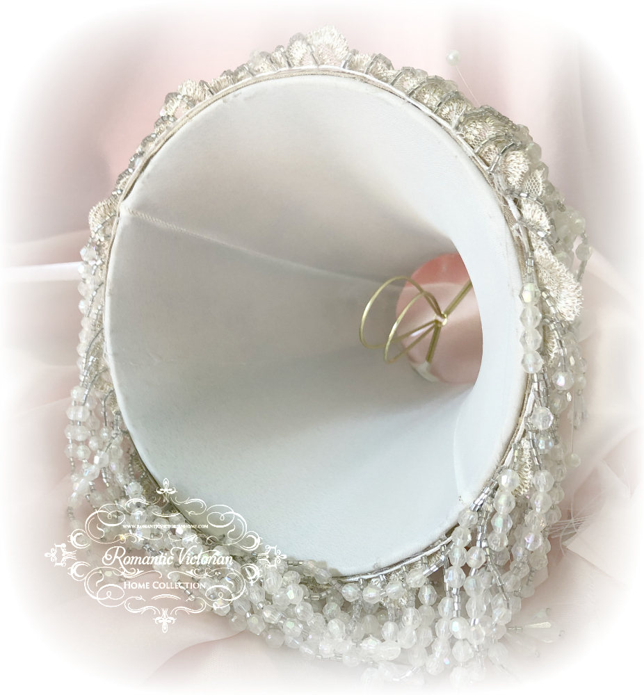 Image 5 of Blush Rose Pink Cherub Lamp Shade