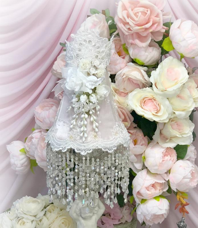 Image 1 of Blush Rose Pink Cherub Lamp Shade