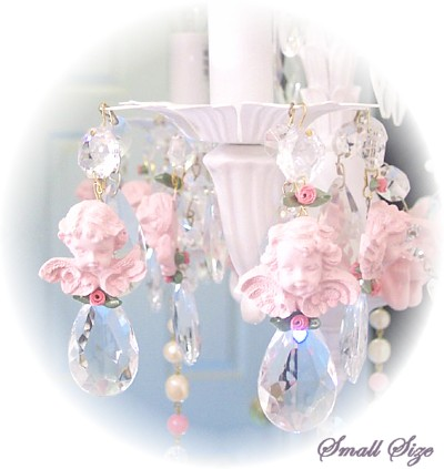 Image 0 of Small Pink Cherub Chandelier Charms