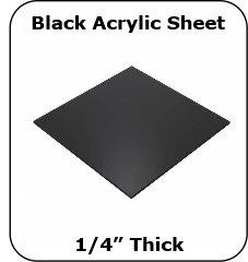 Cut To Size Black Plexiglass Acrylic Sheets #2025 - 1/4 Thick