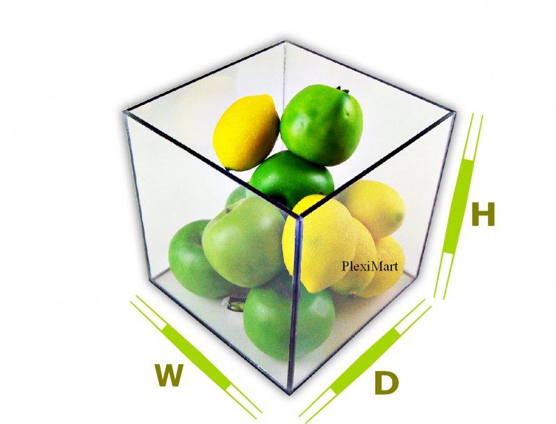 Acrylic Box 4 X 4 : Clear plexiglass box quot h d w thick
