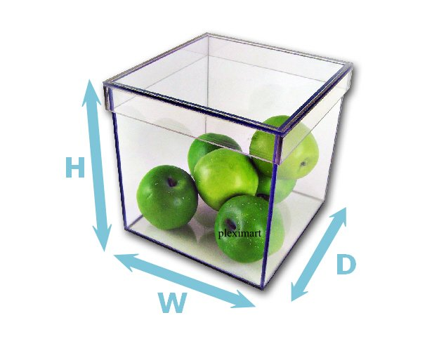 Plexiglass Box With Shoe Lid - 3/16 - 10H x 10D x 10W