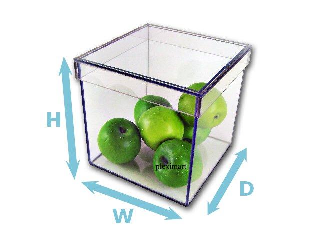 Plexiglass Box With Shoe Lid - 1/4 - 10H x 10D x 10W