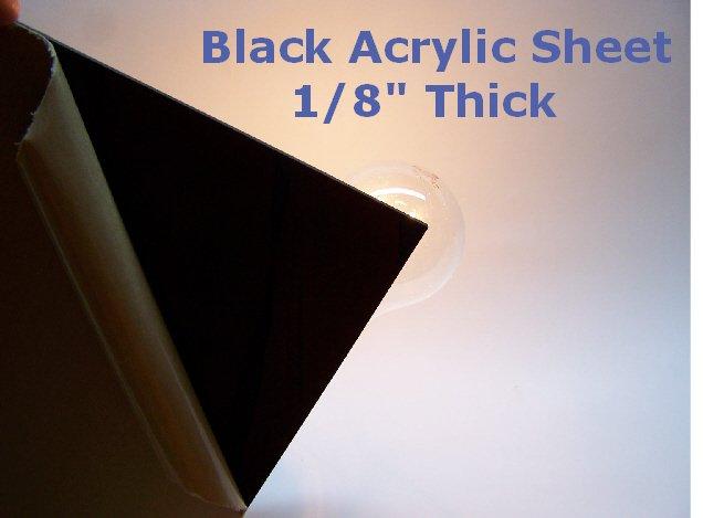 Black Acrylic Sheet 1 8 Quot Thick 18 Quot X 18 Quot