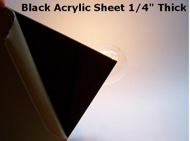 Black Acrylic Sheet 1/4 Thick 10 x  10