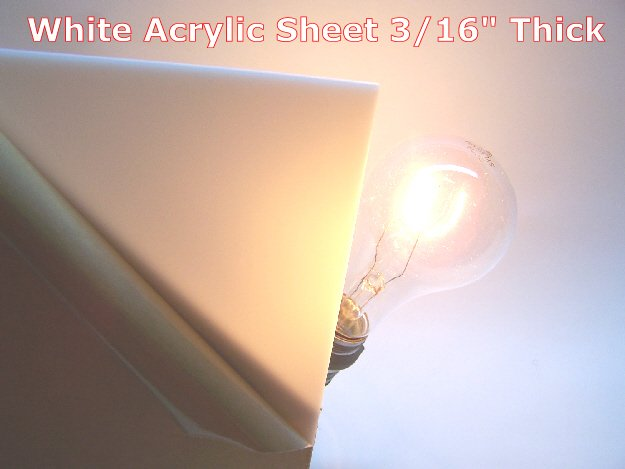 White Acrylic Sheet 3 16 Quot Thick 24 Quot X 48 Quot