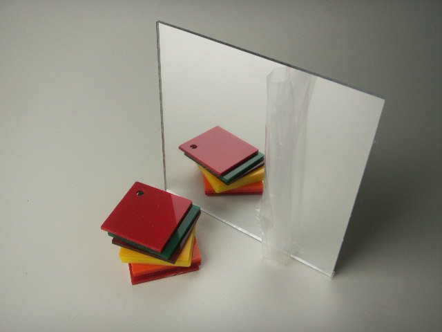 Plexiglass Acrylic Mirror Sheets 2 x 2 - 1/8 thick