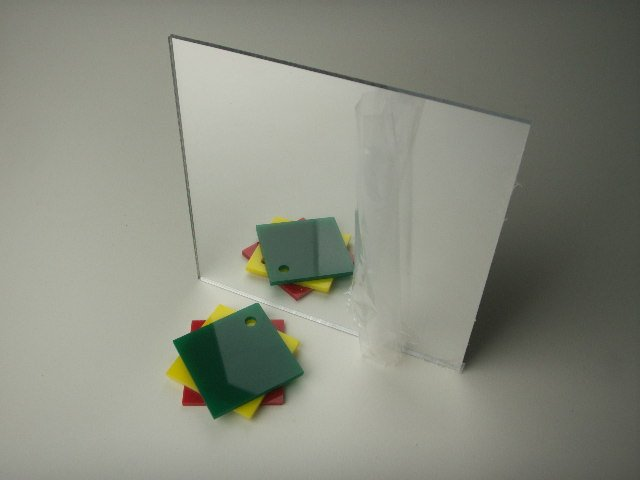 Plexiglass Acrylic Mirror Sheets 2 x 2  - 1/4 thick