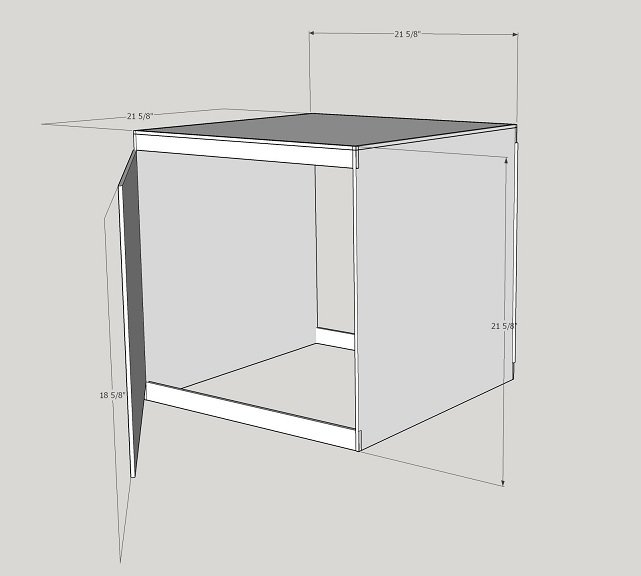 3D Printer Acrylic Plexiglass Box with door.