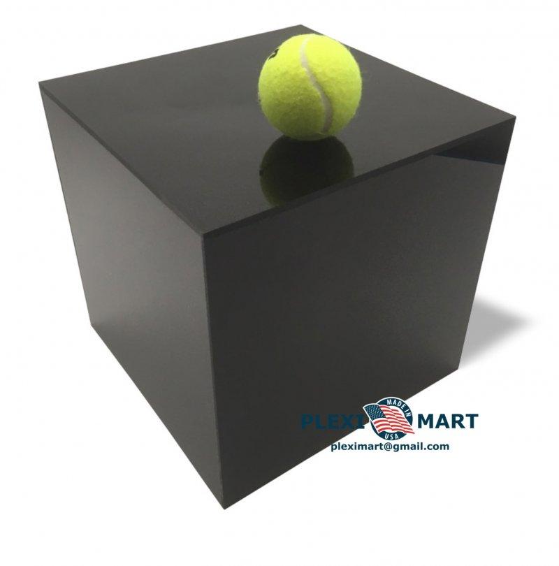 Black acrylic plexiglass display box - cube 10